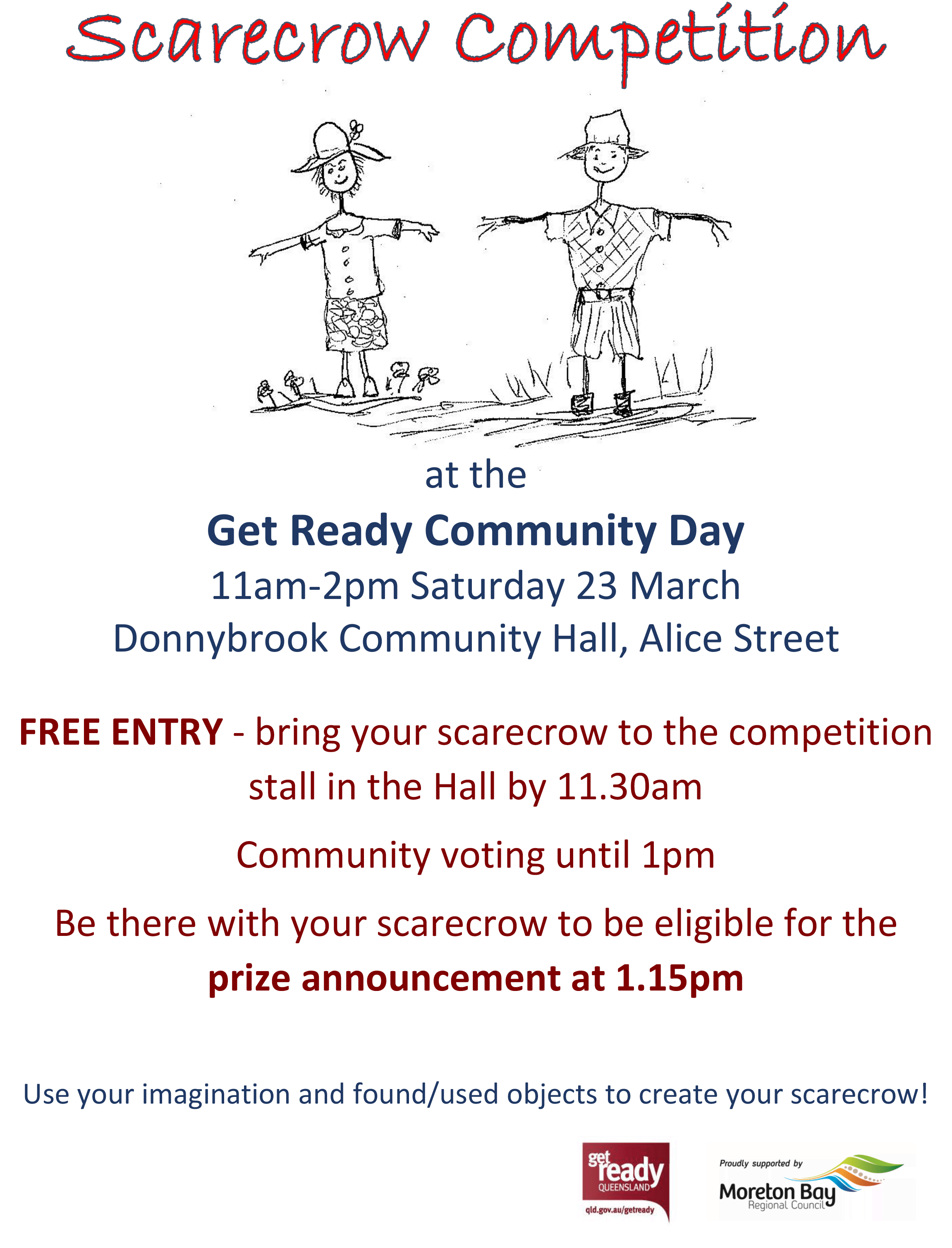 Scarecrow Competition at Community Day at Donnybrook Sat 23 March